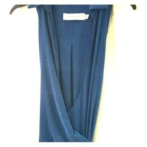 Dresses & Skirts - NW BLUE MAXI WRAP DRESS SIZE SMALL WITH TAGS